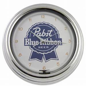 New Pabst Blue Ribbon Pub Beer Sign Wall Bar Neon Clock