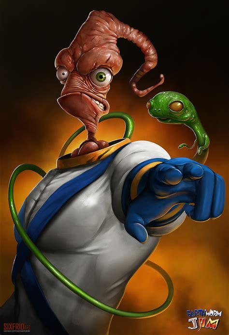 earthworm jim earthworm jim by sixfrid on deviantart