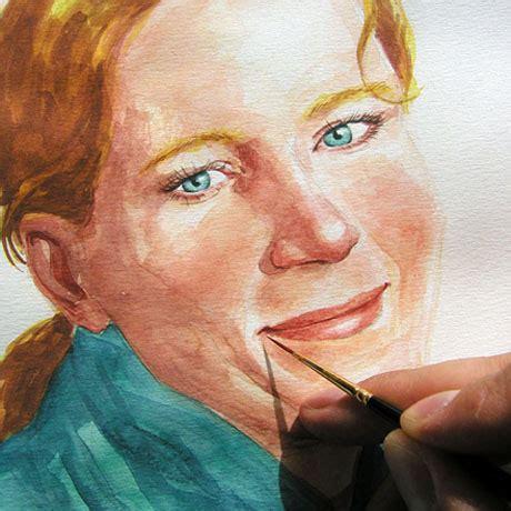 watercolor portrait shadows light  facial expression latelier canson