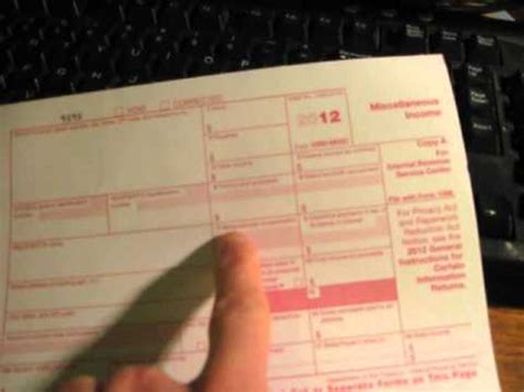 fill   irs  misc tax form youtube
