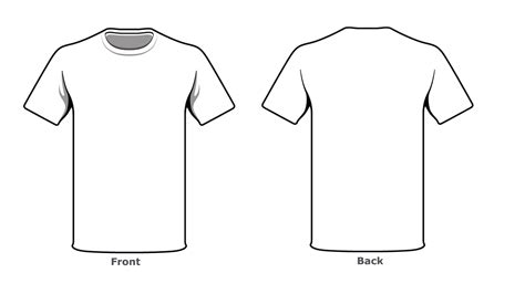T Shirt Blank Template by Blank Tshirt Template Front Back Side In High Resolution
