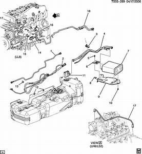 Chevrolet Trailblazer St155 Vapor Canister Lines  U0026 Canister
