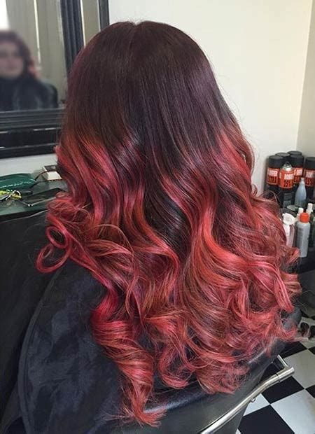 red ombre hair color ideas page    stayglam