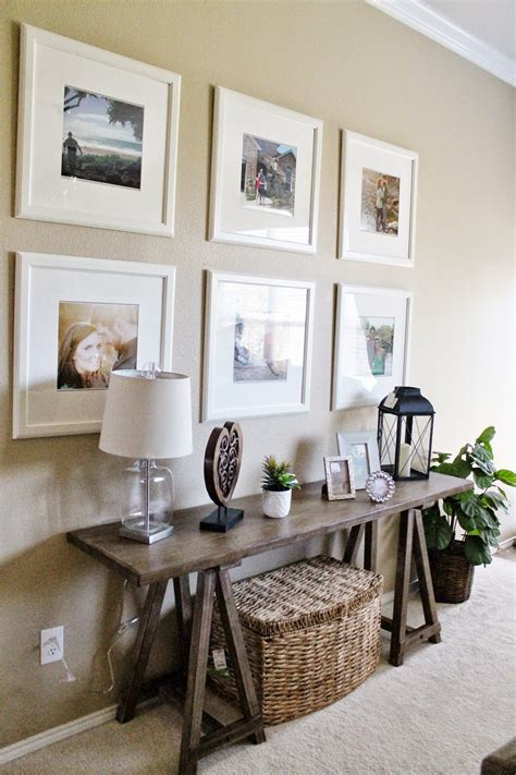 entry  living room decor ikea picture frame