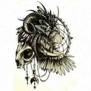 Attrape Reve Tatoo : tatouage ephemere lion et attrape r ves tempo tattoo ~ Nature-et-papiers.com Idées de Décoration