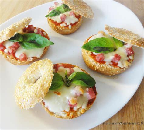 cuisiner des lardons bagels facon pizza aux fourneaux