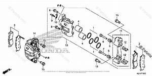 Honda Side By Side 2016 Oem Parts Diagram For Front Brake