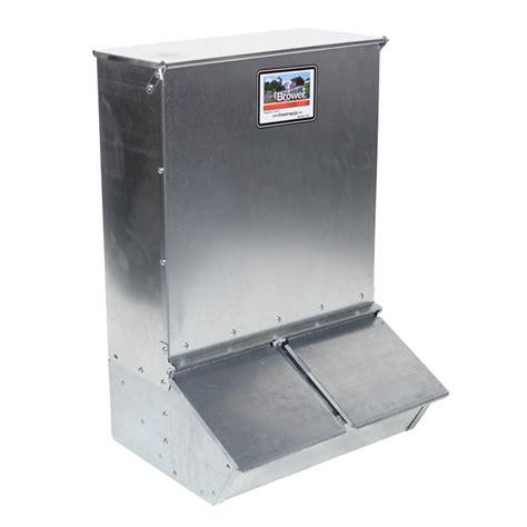 hog feeders for 22h two door hog feeder 3 7 bushel 23x20x36 feeding