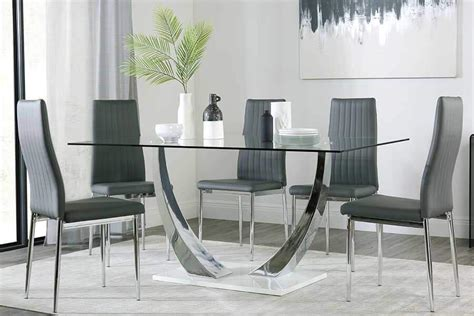 glass dining table chairs glass dining sets