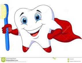 Cartoon Superhero Tooth