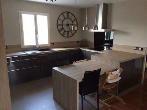 hauteur d un ilot de cuisine hauteur d un ilot de cuisine 9 cuisine bois et blanc