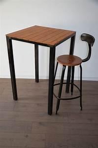 Table Mange Debout Style Industriel : mange debout et tabourets de bar en bois et m tal de style industriel table haute et chaise ~ Melissatoandfro.com Idées de Décoration