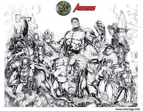 coloriage avengers vs justice league jecolorie com