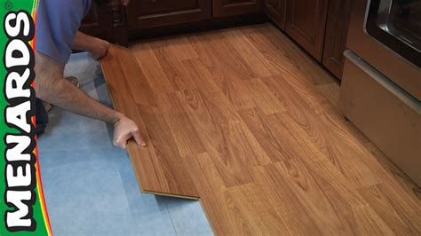 how to install a laminate floor laminate flooring how to install menards youtube