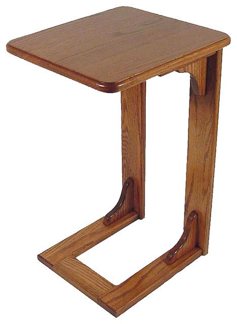 amish  oak   arm sofa table traditional side tables   tables  furniture
