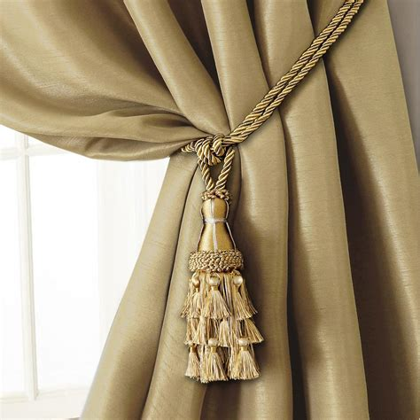 drapery tie backs gold curtain tie backs in home glamorous gold curtain