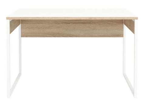 bureau 120cm bureau 120 cm toronto coloris blanc chêne sonoma vente