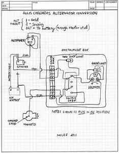 Allis Chalmers B Alternator Conversion Schematic