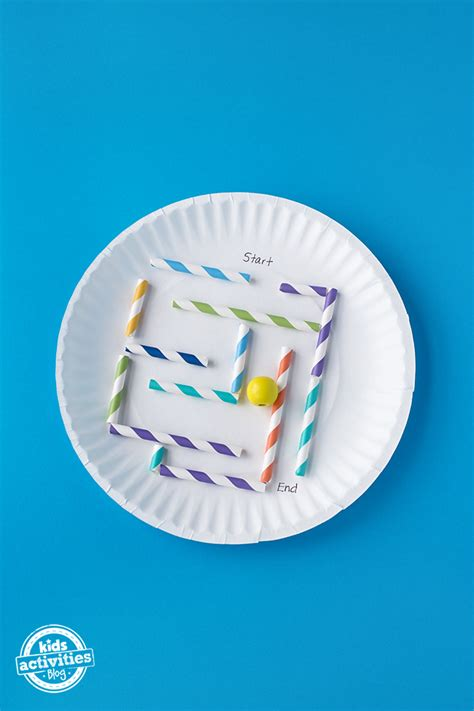 simple paper plate marble maze   kids
