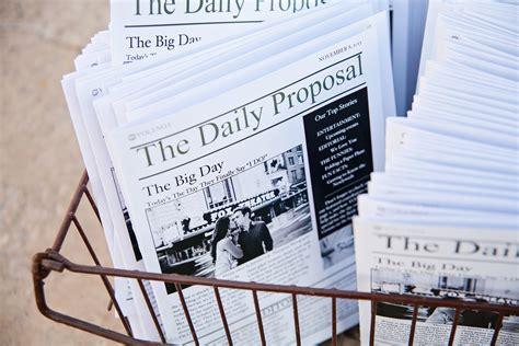 freebie diy newspaper wedding program template