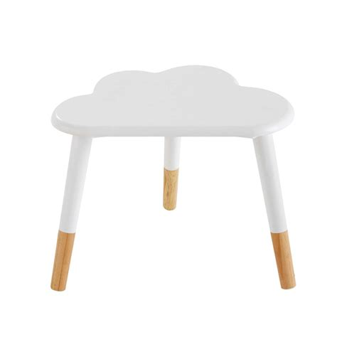chambre ado blanche table de chevet enfant nuage blanche nuage maisons du monde