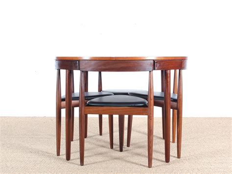 teak dining table and chairs by hans for frem rojle
