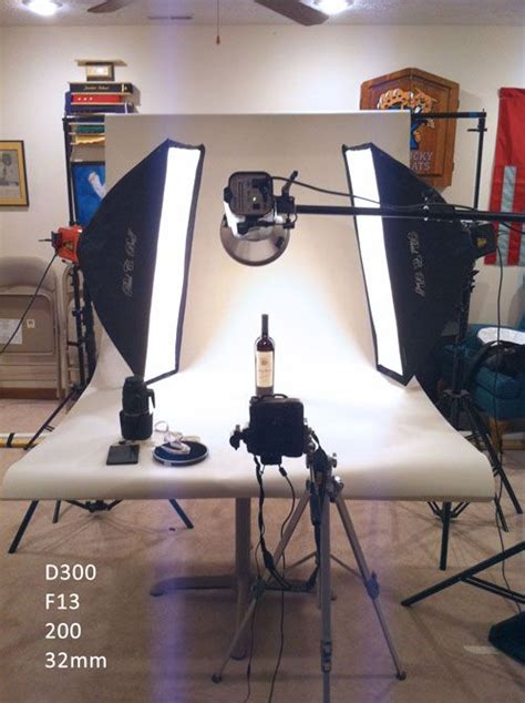 product photography setup photo place light