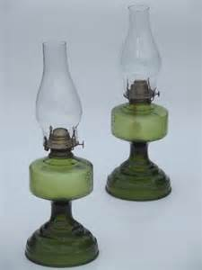 Lamp Oil Burners by Pair Of Vintage Glass Oil Lamps Homesteader Antique