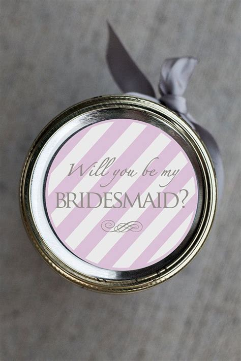 printable bridesmaid maid  honor gift mason jar