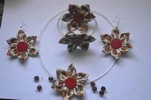 Création Avec Tissus : cr ation parure fleur tissu collier bracelet et boucles d 39 oreilles avec feur cr ation ~ Nature-et-papiers.com Idées de Décoration
