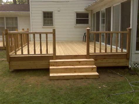 Simple Wood Deck Designs  Home Design Ideas