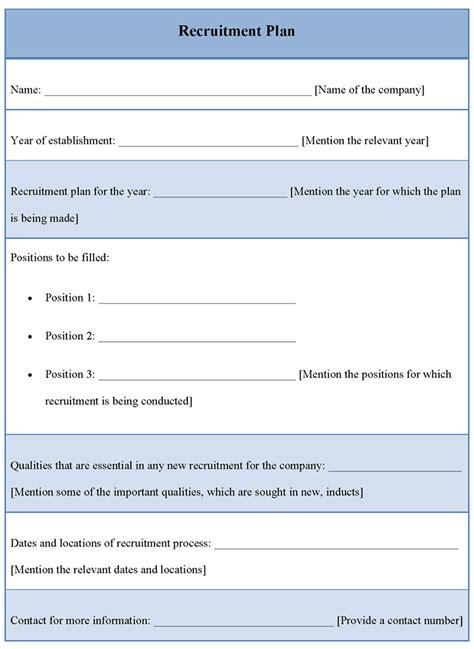 recruitment strategy template recruitment plan template playbestonlinegames