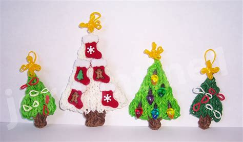 rainbow loom mini star christmas tree topper ornament