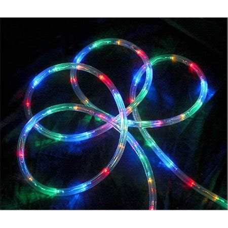 multi color led rope christmas lights 18 multi color led indoor outdoor rope lights 2 quot bulb spacing walmart