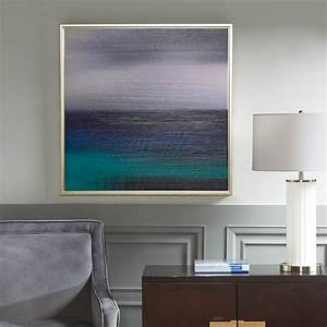 blue seascape heavy brush gel coat with silver framed With best brand of paint for kitchen cabinets with madison park wall art