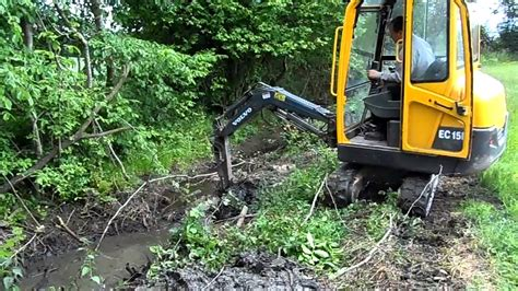 volvo ecb mini digger excavator drainage works youtube