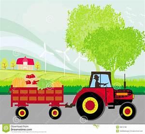 Conduire Une Remorque : quipez conduire un tracteur avec une remorque pleine des l gumes photo stock image 35872780 ~ Medecine-chirurgie-esthetiques.com Avis de Voitures