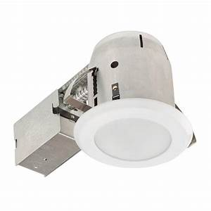 Globe electric in white led ic rated shower lens recessed lighting kit dimmable downlight