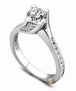 14k white gold quotirrestiblequot solitaire engagement ring with for Wedding rings colorado springs