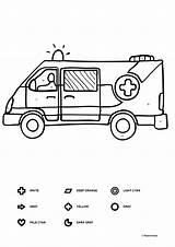 Coloring Ambulance Them sketch template