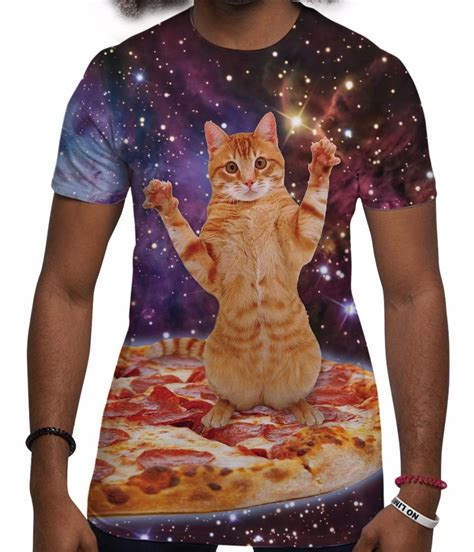 cat in space t shirt space cat t shirt festival sublimation t shirts
