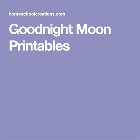 70 best goodnight moon activities images on