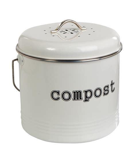 Compost Bin White 6.5L from Storage Box