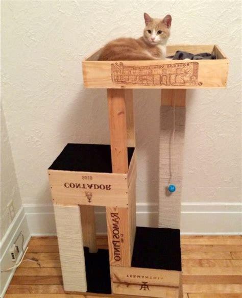 1001 id 233 es et tutos pour fabriquer un meuble en cagette charmant chat roux caisses en bois