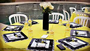 Black And White Baby Shower Decorations a happy hour baby shower