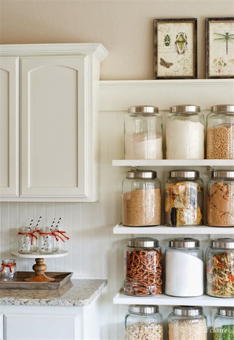 glass kitchen storage get your home in order with these 50 diy organization ideas 1236