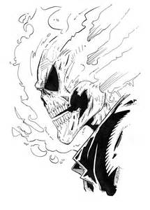 Ghost Rider Cartoon Drawing