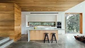 Beton Arbeitsplatte Küche : beton arbeitsplatte in der k che und wand und deckenverkleidung aus holz k che pinterest ~ Sanjose-hotels-ca.com Haus und Dekorationen