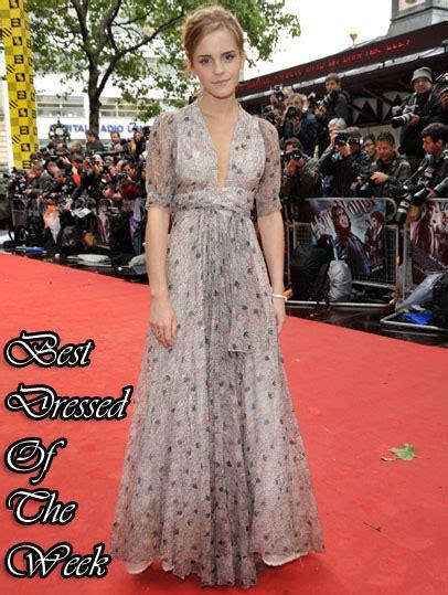 Best Dressed The Week Emma Watson Vintage Ossie