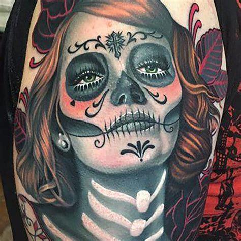 beautiful  foreboding tattoos  la catrina tattoodo